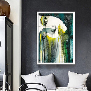 Modern Abstract Girl Painting from Gallery Wallrus | Eclectic Wall Art & Decor with Worldwide Shipping