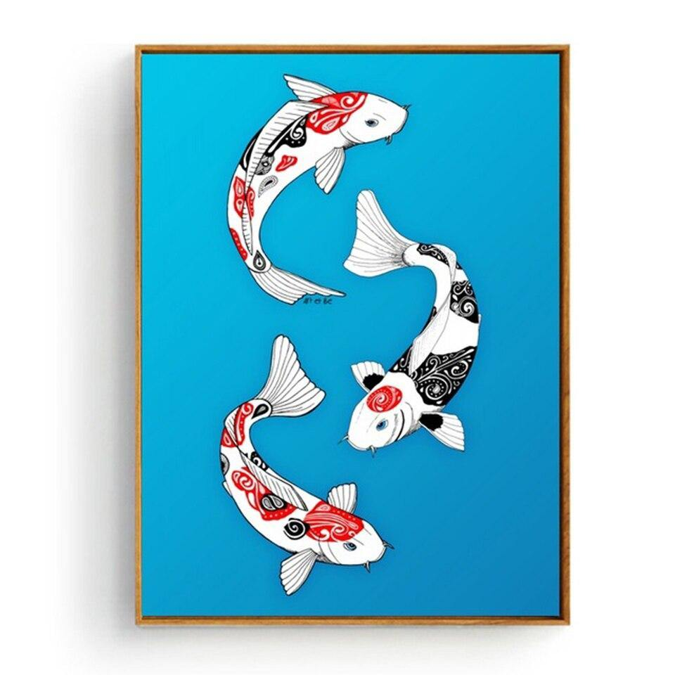 Japanese Koi Fish Wall Art Painting Collection from Gallery Wallrus | Eclectic Wall Art & Decor with Worldwide Shipping