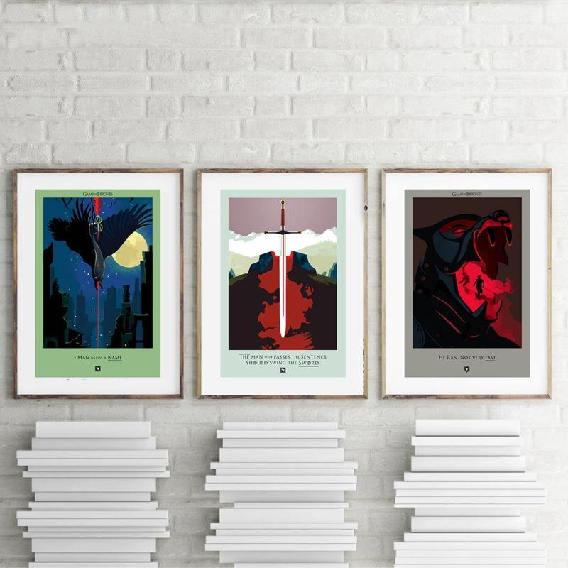 Game of Thrones Retro Cool Gallery Wall from Gallery Wallrus | Eclectic Wall Art & Decor with Worldwide Shipping
