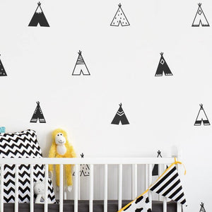 Minimalist Teepee Wall Stickers for Kids Bedroom from Gallery Wallrus | Eclectic Wall Art & Decor with Worldwide Shipping