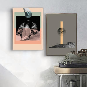 Twin Set of Contemporay Abstract Prints from Gallery Wallrus | Eclectic Wall Art & Decor with Worldwide Shipping