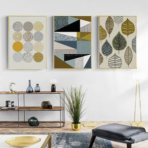 Gallery Wall Trio of 3 Nordic Style Geometric Art Prints from Gallery Wallrus | Eclectic Wall Art & Decor with Worldwide Shipping