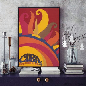 Retro Cuba Art Print from Gallery Wallrus | Eclectic Wall Art & Decor with Worldwide Shipping