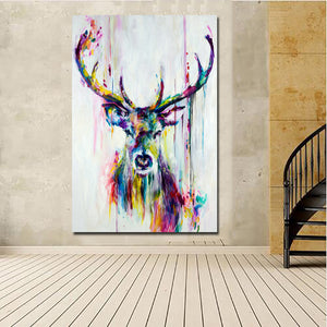 Abstract Deer Painting from Gallery Wallrus | Eclectic Wall Art & Decor with Worldwide Shipping