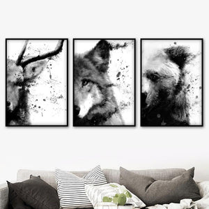 Animal Watercolor Trio from Gallery Wallrus | Eclectic Wall Art & Decor with Worldwide Shipping