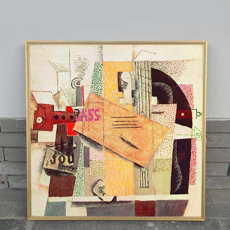 Large Square Picasso Abstract Art Print from Gallery Wallrus | Eclectic Wall Art & Decor with Worldwide Shipping