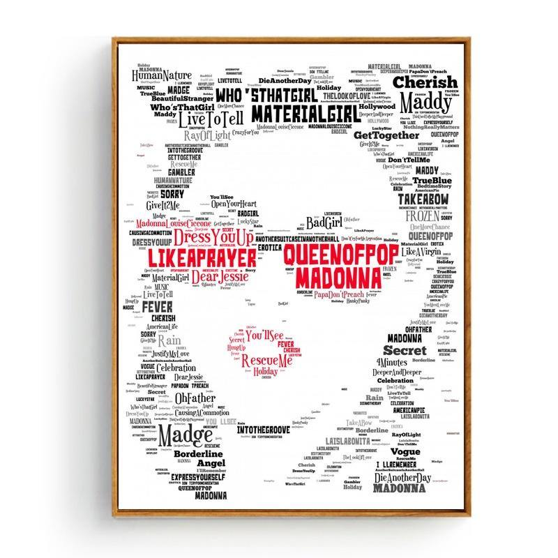 Cool Music Typography Art Print - Madonna from Gallery Wallrus | Eclectic Wall Art & Decor with Worldwide Shipping
