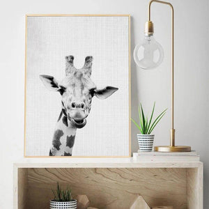 Black & White Giraffe Head Art Print from Gallery Wallrus | Eclectic Wall Art & Decor with Worldwide Shipping