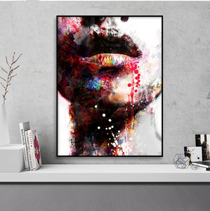 Striking Artsy Graffiti Portrait Francoise from Gallery Wallrus | Eclectic Wall Art & Decor with Worldwide Shipping