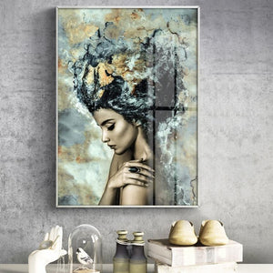 Shimmer Girl Painting from Gallery Wallrus | Eclectic Wall Art & Decor with Worldwide Shipping