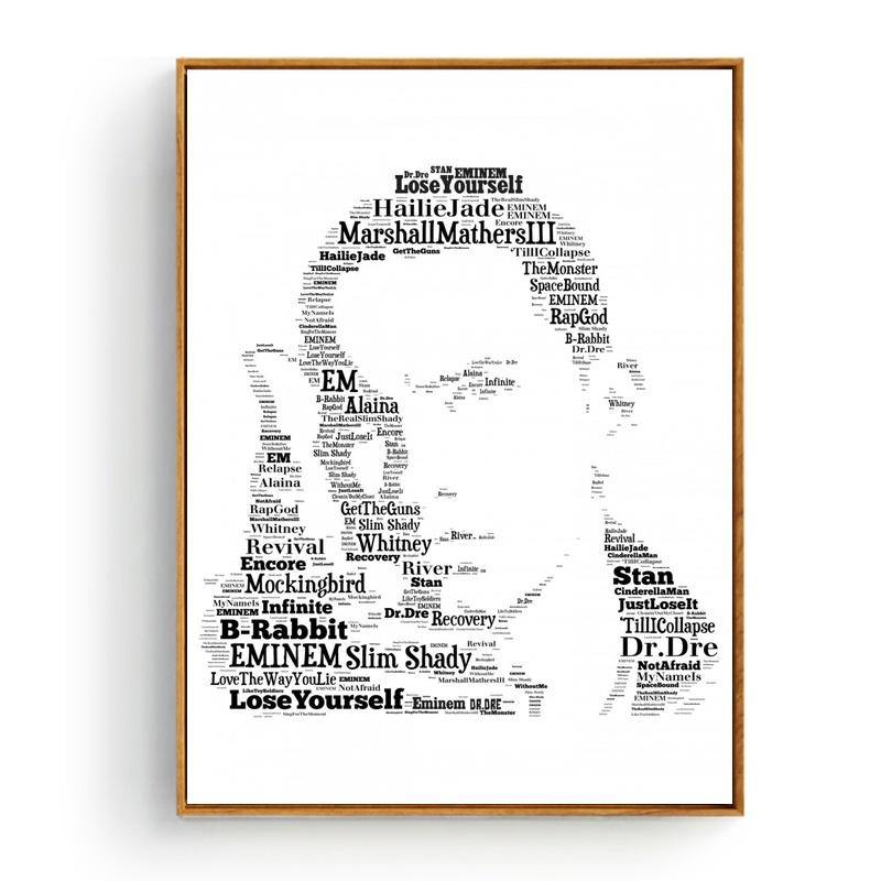 Cool Music Typography Art Print - Eminem from Gallery Wallrus | Eclectic Wall Art & Decor with Worldwide Shipping
