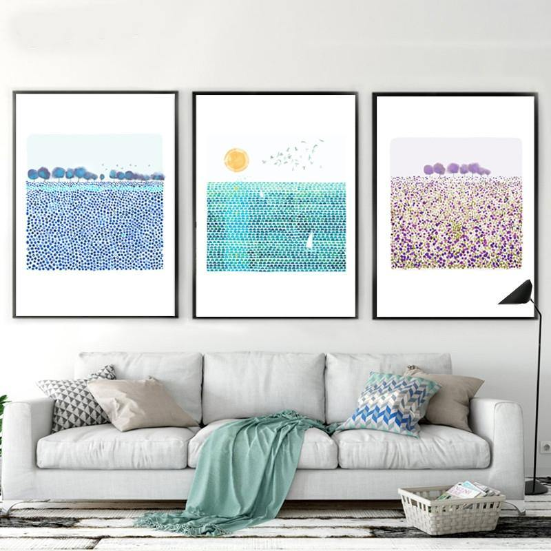 Blue and Purple Scenery Gallery Wall Art Print Set from Gallery Wallrus | Eclectic Wall Art & Decor with Worldwide Shipping