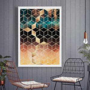 Cube Shimmer Abstract Art from Gallery Wallrus | Eclectic Wall Art & Decor with Worldwide Shipping