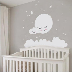 Moon, Cloud & Stars Wall Stickers for Baby Nursery from Gallery Wallrus | Eclectic Wall Art & Decor with Worldwide Shipping