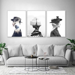 Gallery Wall Trio of 3 Abstract Fashion Silhouettes from Gallery Wallrus | Eclectic Wall Art & Decor with Worldwide Shipping