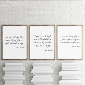 Albus Dumbledore Typography Gallery Wall Set from Gallery Wallrus | Eclectic Wall Art & Decor with Worldwide Shipping