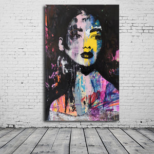 Portrait Graffiti Artwork from Gallery Wallrus | Eclectic Wall Art & Decor with Worldwide Shipping