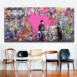 Street Art Heroes from Gallery Wallrus | Eclectic Wall Art & Decor with Worldwide Shipping