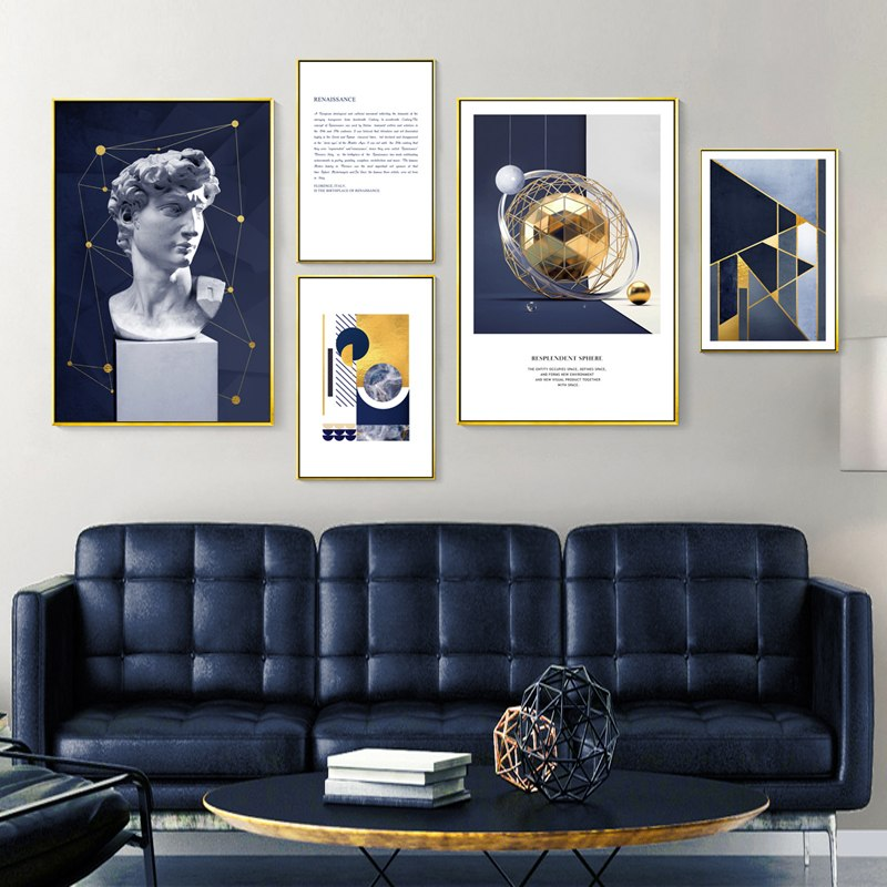 Michelangelo Geometry Mixed Size Gallery Wall from Gallery Wallrus | Eclectic Wall Art & Decor with Worldwide Shipping