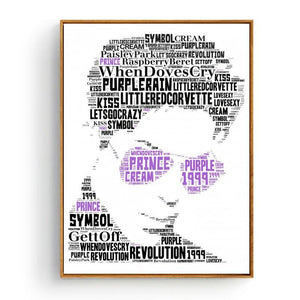 Cool Music Typography Art Print - Prince from Gallery Wallrus | Eclectic Wall Art & Decor with Worldwide Shipping