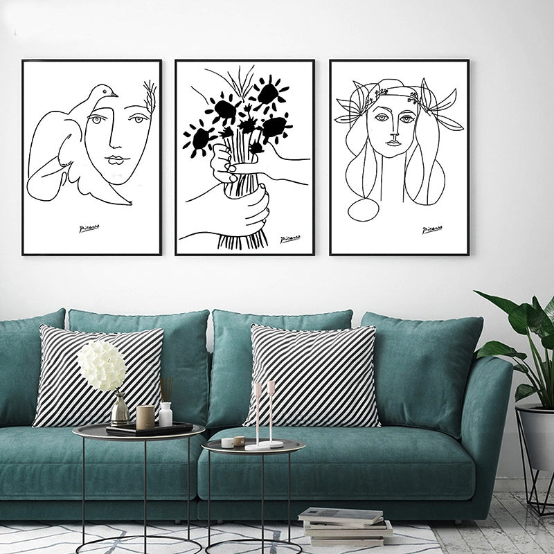 Gallery Wall Trio of Boho Picasso Artwork from Gallery Wallrus | Eclectic Wall Art & Decor with Worldwide Shipping