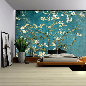 Van Goph Blossom Wall Self Adhesive Mural from Gallery Wallrus | Eclectic Wall Art & Decor with Worldwide Shipping