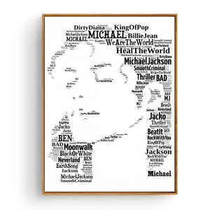 Cool Music Typography Art Print - Michael Jackson from Gallery Wallrus | Eclectic Wall Art & Decor with Worldwide Shipping