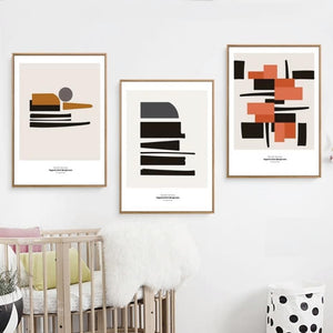 Gallery Wall Trio of 3 Stylish Geometric poster prints from Gallery Wallrus | Eclectic Wall Art & Decor with Worldwide Shipping