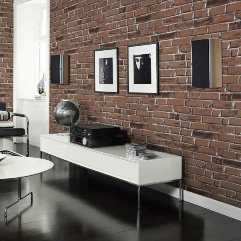 Self Adhesive Rustic Exposed Brick Simulation Wallpaper Sticker from Gallery Wallrus | Eclectic Wall Art & Decor with Worldwide Shipping
