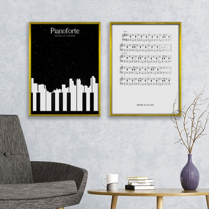 Piano music Twin Art Set from Gallery Wallrus | Eclectic Wall Art & Decor with Worldwide Shipping