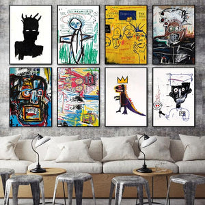 Jean-Michel Basquiat Gallery Wall set of 8 from Gallery Wallrus | Eclectic Wall Art & Decor with Worldwide Shipping