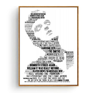Cool Music Typography Art Print - Elvis Presley from Gallery Wallrus | Eclectic Wall Art & Decor with Worldwide Shipping