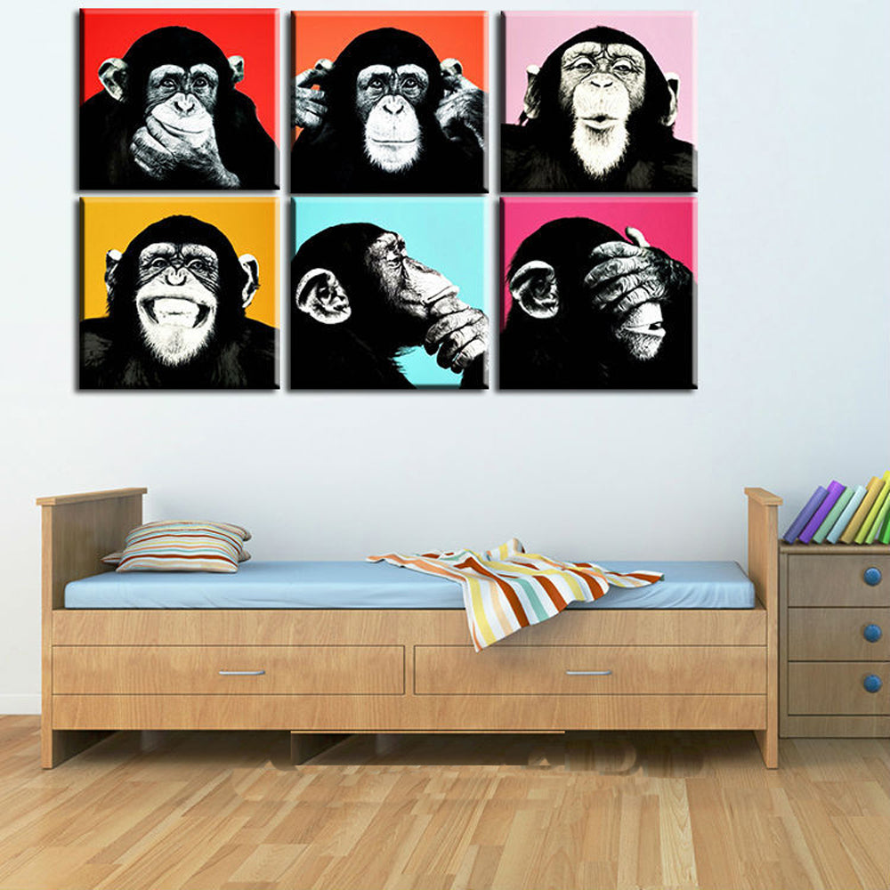 Monkey Pop Art Gallery Wall from Gallery Wallrus | Eclectic Wall Art & Decor with Worldwide Shipping