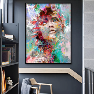 Striking Artsy Graffiti Portrait Melissa from Gallery Wallrus | Eclectic Wall Art & Decor with Worldwide Shipping