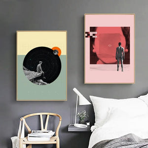 Abstract Space Age Duo from Gallery Wallrus | Eclectic Wall Art & Decor with Worldwide Shipping