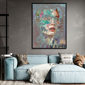 Striking Artsy Graffiti Portrait Siona from Gallery Wallrus | Eclectic Wall Art & Decor with Worldwide Shipping