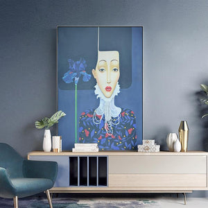 Victorian Bohemian Girl Painting Art Print from Gallery Wallrus | Eclectic Wall Art & Decor with Worldwide Shipping