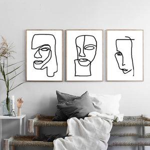 Gallery Wall Trio of Abstract Line Drawings from Gallery Wallrus | Eclectic Wall Art & Decor with Worldwide Shipping