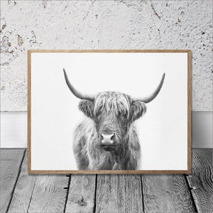 Black & White Bull Art Print from Gallery Wallrus | Eclectic Wall Art & Decor with Worldwide Shipping