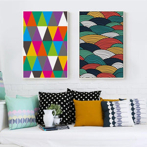 Colorful Abstract Shapes Gallery Wall Art Print Duo from Gallery Wallrus | Eclectic Wall Art & Decor with Worldwide Shipping