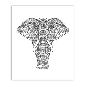 Southeast Asia Hand Drawn Elephant Art Duo from Gallery Wallrus | Eclectic Wall Art & Decor with Worldwide Shipping