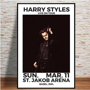 Harry Styles 2018 Tour Music Star Hot Poster And Prints Wall Art Modern Canvas Painting Wall Pictures For Living Room Home Decor from Gallery Wallrus | Eclectic Wall Art & Decor with Worldwide Shipping