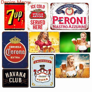 Vintage Bar Wall Signs Mix & Match from Gallery Wallrus | Eclectic Wall Art & Decor with Worldwide Shipping