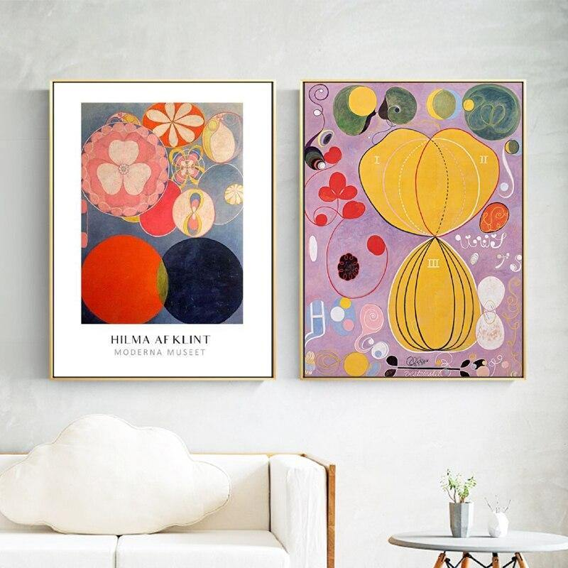 Hilma Klint Stunning Colorful Gallery Wall Art Duo from Gallery Wallrus | Eclectic Wall Art & Decor with Worldwide Shipping