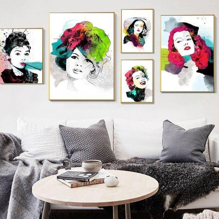 60's Movie Actresses Gallery Wall Mix & Match from Gallery Wallrus | Eclectic Wall Art & Decor with Worldwide Shipping
