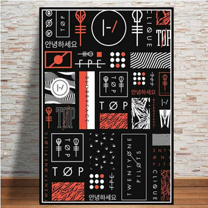 Twenty One Pilots Gallery Wall Art Picture Collection from Gallery Wallrus | Eclectic Wall Art & Decor with Worldwide Shipping