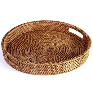 Hand-Woven Rattan Tray from Gallery Wallrus | Eclectic Wall Art & Decor with Worldwide Shipping