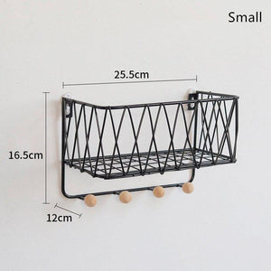 Household Decorative Iron Sundries Storage Rack Towel Keys Multifunctional Hanging Holders from Gallery Wallrus | Eclectic Wall Art & Decor with Worldwide Shipping