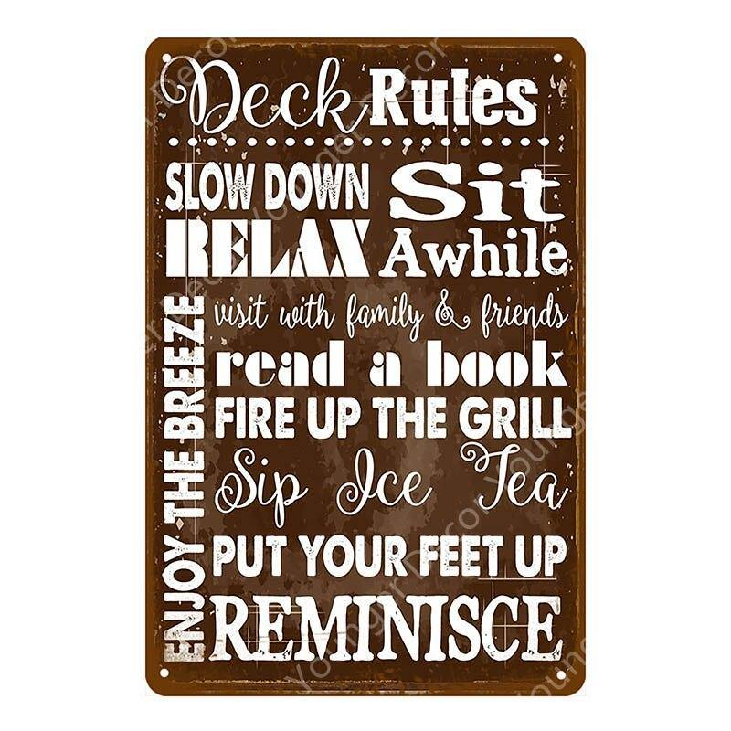 Wall Art Typography & Home Rules Metal Signs (Various Styles) from Gallery Wallrus | Eclectic Wall Art & Decor with Worldwide Shipping