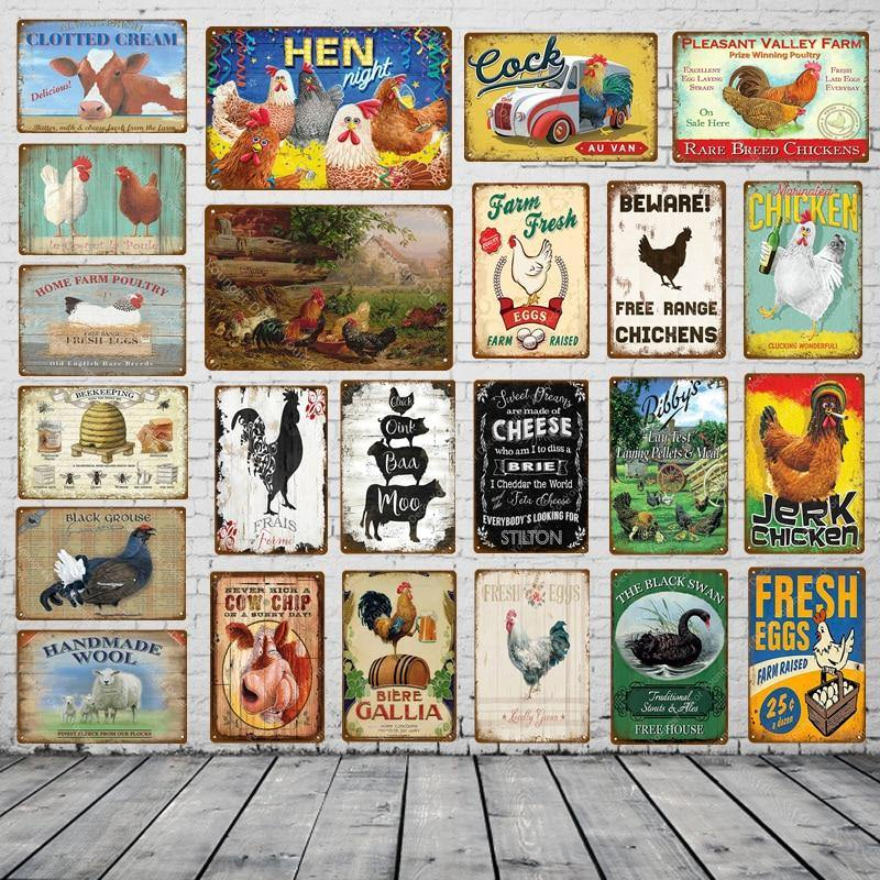 Vintage Chicken and Eggs Gallery Wall Art Signs Mix & Match from Gallery Wallrus | Eclectic Wall Art & Decor with Worldwide Shipping